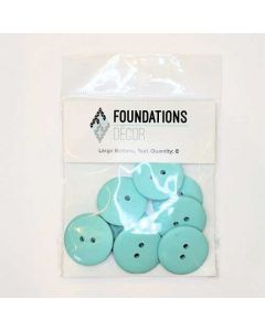 Teal Buttons, Large Set - Foundations Decor