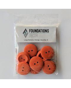 Orange Buttons, Large Set - Foundations Decor