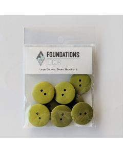 Green Buttons, Large Set - Foundations Decor