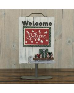 Sled with Presents - Welcome Sign - Foundations Décor