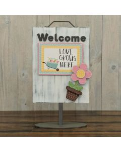 Flower - Welcome Sign - Foundations Décor