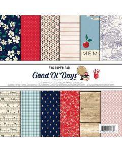 "Good Old Days 6"" x 6"" Paper Pad - Amber Labau - Fancy Pants Designs"