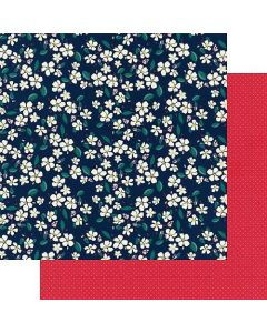 "Blossom 12"" x 12"" Paper - Good Old Days - Amber Labau - Fancy Pants Designs"