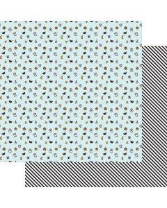 "Little Monsters 12"" x 12"" Paper - Howl - Renne Looney - Fancy Pants Designs"