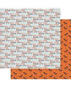 "Wicked Cute 12"" x 12"" Paper - Howl - Renne Looney - Fancy Pants Designs"