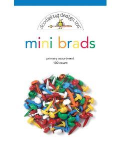 Primary Assortment Mini Brads - School Days - Doodlebug Design