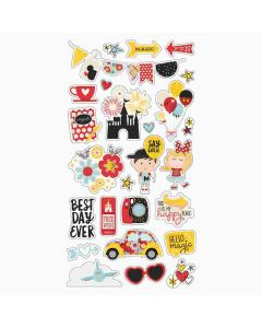 Simple Stories Say Cheese 4 Chipboard stickers