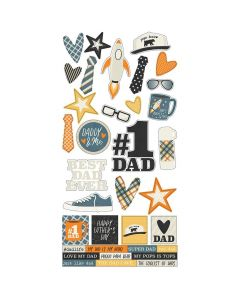 """Dad Life - 6"""" x 12"""" Stickers - Simple Stories"""