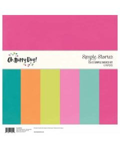 "Oh, Happy Day! 12"" x 12"" Simple Basics Kit"