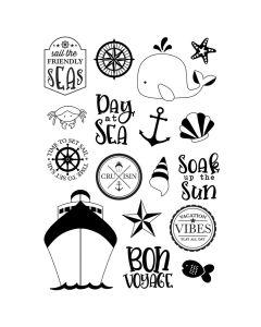 Set Sail Stamps - Cruisin' - Simple Stories