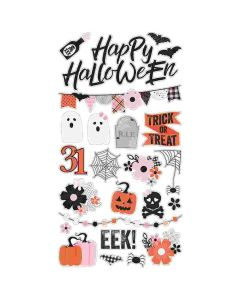 """Happy Haunting 6"""" x 12"""" Chipboard Stickers - Simple Stories"""