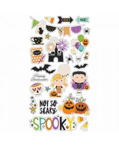 "Say Cheese Halloween 6"" x 12"" Chipboard Stickers- Simple Stories"