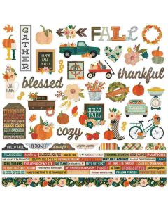 Fall Farmhouse Combo Stickers - Simple Stories