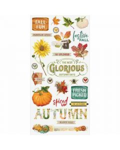 "Autumn Splendor 6"" x 12"" Chipboard Stickers - Simple Stories"