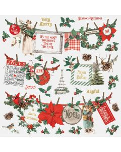 Country Christmas Banner Stickers - Simple Stories