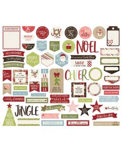 Holly Jolly Journal Bits & Pieces - Simple Stories