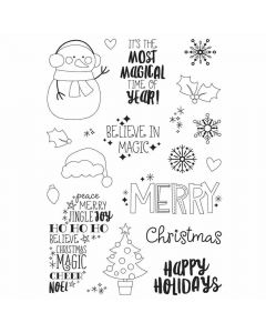 Say Cheese Christmas Stamps - Simple Stories