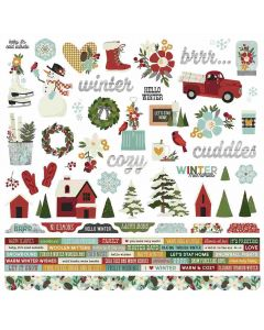 Winter Farmhouse Combo Stickers - Simple Stories