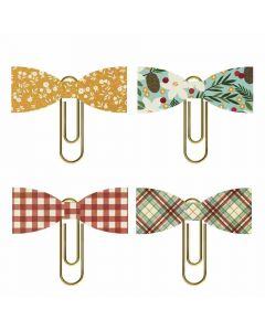 Winter Farmhouse Bow Clips - Simple Stories