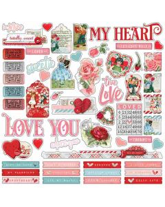 Simple Vintage My Valentine Combo Stickers - Simple Stories