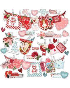 Simple Vintage My Valentine Banner Stickers - Simple Stories