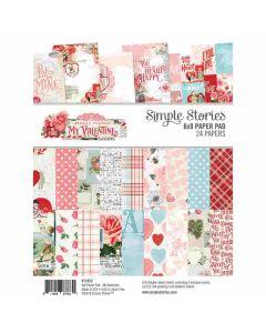 """Simple Vintage My Valentine 6"""" x 8"""" Paper Pad - Simple Stories"""
