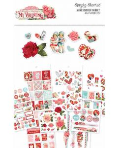 Simple Vintage My Valentine Mini Sticker Tablet - Simple Stories