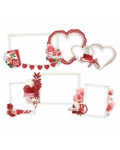 Simple Vintage My Valentine Layered Frames - Simple Stories