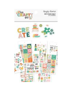Hey, Crafty Girl Mini Sticker Tablet - Simple Stories