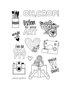 Hey, Crafty Girl Stamps - Simple Stories