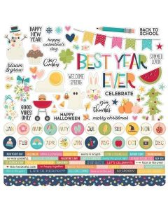 Best Year Ever Combo Sticker - Simple Stories*