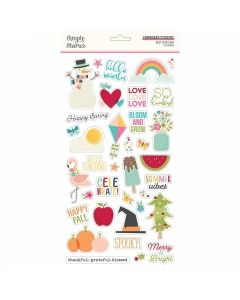 "Best Year Ever 6"" x 12"" Chipboard Stickers - Simple Stories*"