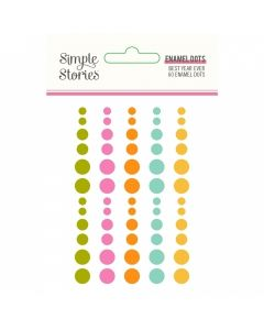 Best Year Ever Enamel Dots - Simple Stories*