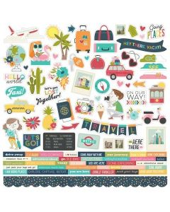 Going Places Combo Stickers - Simple Stories*