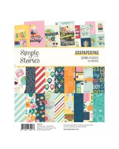 """Going Places 6"""" x 8"""" Paper Pad - Simple Stories*"""