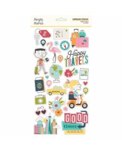 """Going Places 6"""" x 12"""" Chipboard Stickers - Simple Stories*"""