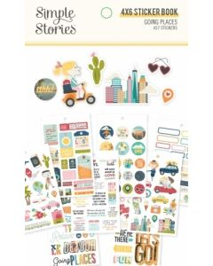 """Going Places 4"""" x 6"""" Sticker Book - Simple Stories*"""