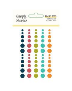 Going Places Enamel Dots - Simple Stories*
