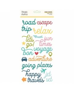 Going Places Foam Stickers - Simple Stories*