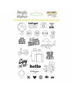 Going Places Clear Stamps - Simple Stories*