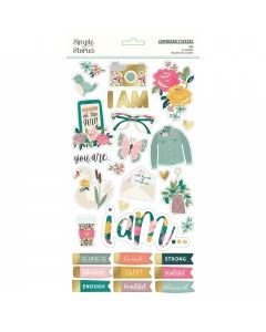 """I Am 2020 6"""" x 12"""" Chipboard Stickers - Simple Stories*"""