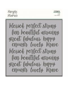 """Affirmations 6"""" x 6"""" Stencil - I Am 2020 - Simple Stories*"""