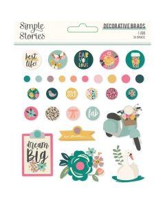 I Am 2020 Decorative Brads - Simple Stories*