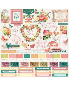 Simple Vintage Garden District Combo Sticker - Simple Stories*