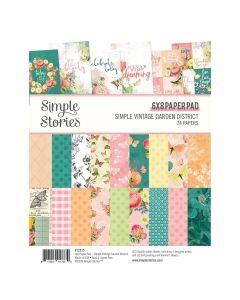"""Simple Vintage Garden District 6"""" x 8"""" Paper Pad - Simple Stories*"""