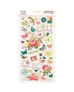 "Simple Vintage Garden District 6"" x 12"" Chipboard Stickers - Simple Stories*"