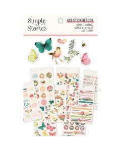 """Simple Vintage Garden District 4"""" x 6"""" Sticker Book - Simple Stories*"""