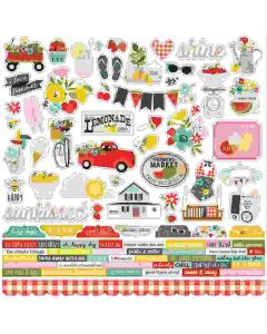 Summer Farmhouse Combo Stickers - Simple Stories