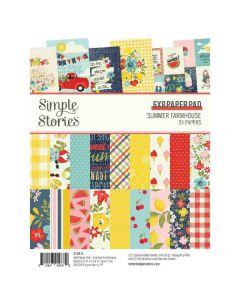 "Summer Farmhouse 6"" x 8"" Paper Pad - Simple Stories"