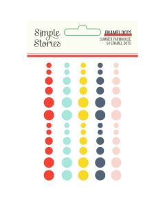 Summer Farmhouse Enamel Dots - Simple Stories